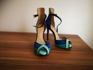 Zara Basic High Heel Sandal blue