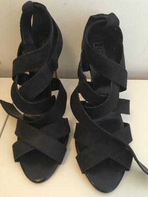 Zara Heels Sandaletten Gr.40 Navy top Zustand