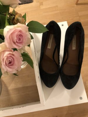 Zara Tacones altos negro