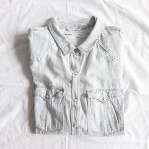 Zara hellblau Jeanshemd Denim Jeans Hemd Bluse L