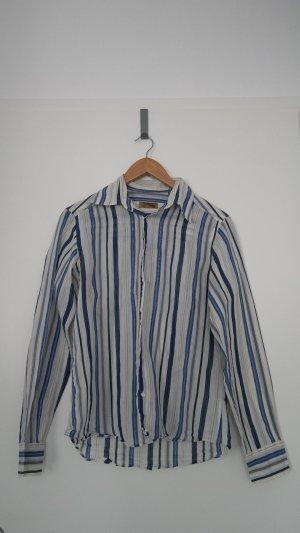 Zara Hemd Blau Weiß Gr. M Langarm