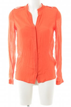 Zara Hemd-Bluse hellorange Casual-Look