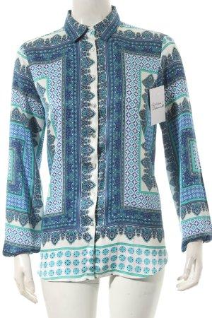 Zara Hemd-Bluse abstraktes Muster Boho-Look