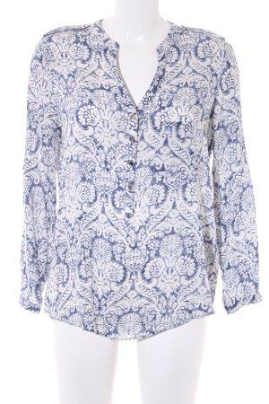 Zara Blusa-camisa azul-blanco puro estampado floral look casual