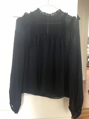 Zara Hemd Bluse Dunkelblau XS