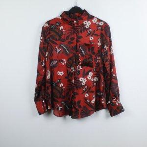 Zara Hemd-Bluse Gr. XS rot gemustert (19/05/022)