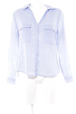 Zara Hemd-Bluse himmelblau Casual-Look