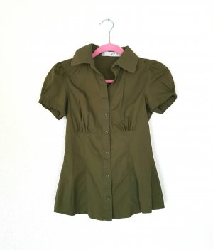 Zara Hemd Bluse in schönem oliv grün gr M