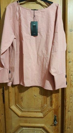 Zara Cuello de blusa rosa claro-rosa
