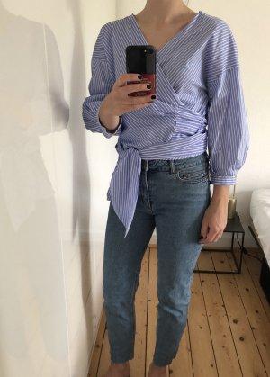 Zara Wraparound Blouse multicolored cotton