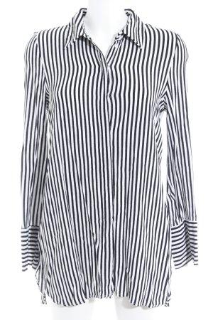 Zara Hemd-Bluse weiß-schwarz Streifenmuster Business-Look
