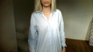 Zara Hemd hellblau aktuelle Kollektion oversize Bluse
