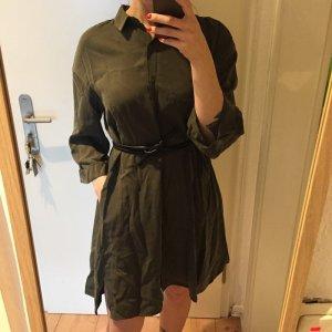 Zara Hemd Kleid Tunika olivgrün Neu!