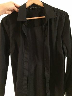 Zara Basic Camisa de manga larga negro