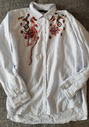 Zara Camicia a maniche lunghe bianco-azzurro