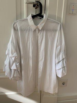 Zara Hemd Weiß mit Statement Ärmeln Größe M