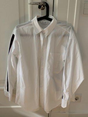 Zara Hemd weiß mit Streifen Größe S Oversized