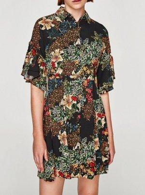 Zara Abito blusa camicia multicolore Viscosa