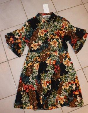 Zara Robe chemise multicolore viscose