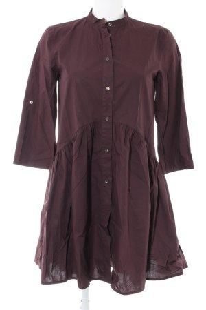Zara Vestido tipo blusón marrón look casual