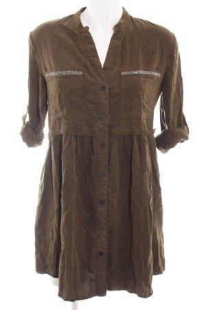 Zara Abito blusa camicia bronzo stile casual