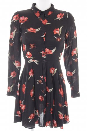 Zara Robe chemise motif de fleur style décontracté