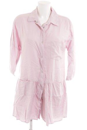 Zara Robe chemise rose clair style décontracté