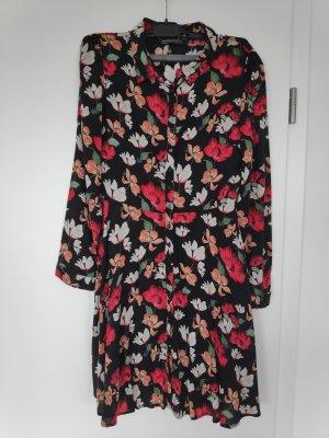 ZARA Hemdblusenkleid mit Blumenmuster