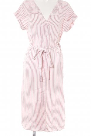 Zara Shirtwaist dress white-bright red flecked casual look