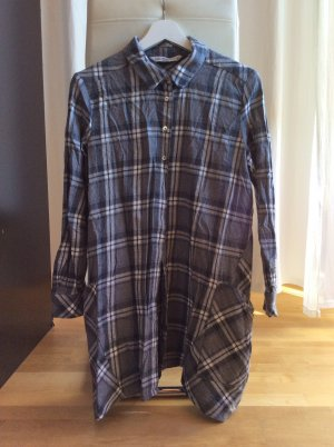 Zara Trafaluc Flanellen hemd grijs-wit