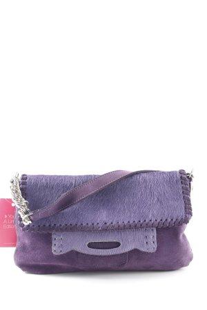 Zara Henkeltasche dunkelviolett-grauviolett extravaganter Stil