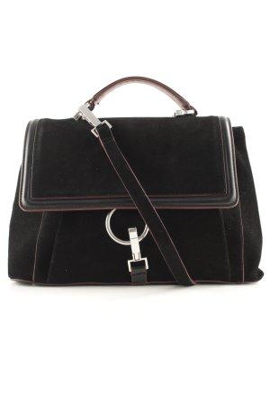 Zara Henkeltasche schwarz-braunrot schlichter Stil