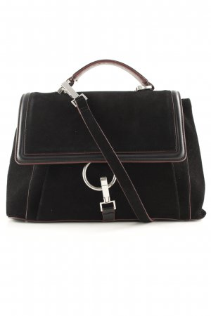 Zara Sac Baril noir-brun rouge style simple
