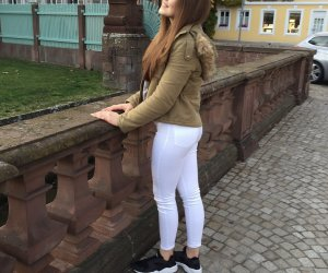 Zara Herbst / Winter Parka Oliv Khaki Gold