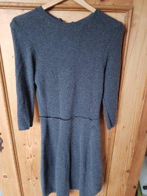 Zara Vestido a media pierna gris oscuro
