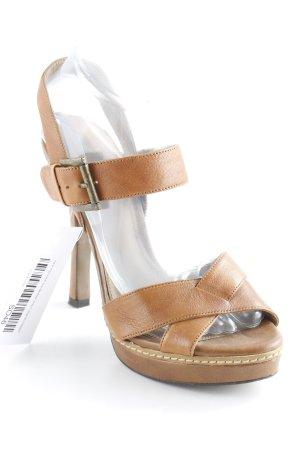 Zara High Heel Sandaletten braun-cognac Elegant