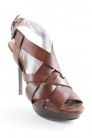 Zara High Heel Sandaletten braun Party-Look