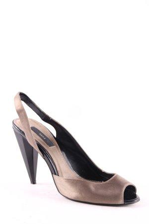 Zara High Heel Sandaletten bronzefarben-schwarz Elegant