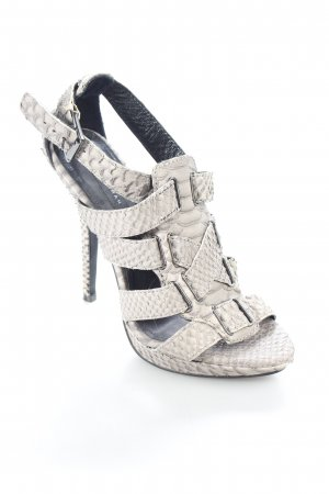 Zara High Heel Sandaletten grau Reptil-Optik
