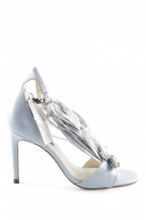 Zara High Heel Sandaletten graublau Elegant