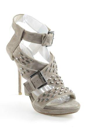 Zara High Heel Sandaletten graubraun Casual-Look