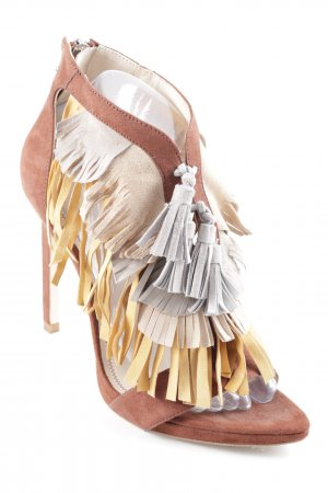 Zara High Heel Sandal multicolored Boho look
