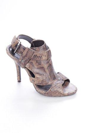 Zara High Heel Sandaletten mehrfarbig Reptil-Optik