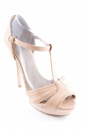 Zara High Heel Sandaletten nude Party-Look