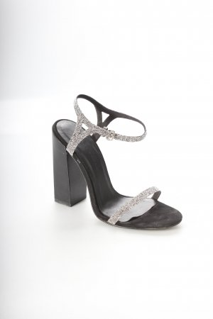 Zara High Heel Sandaletten schwarz-silberfarben Eleganz-Look