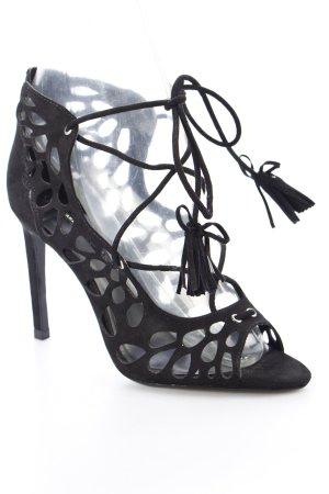 Zara High Heel Sandaletten schwarz Urban-Look