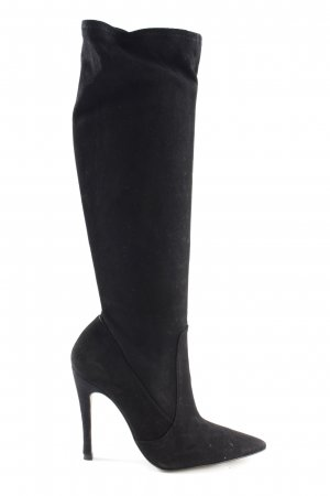 Zara High Heel Stiefel schwarz Casual-Look