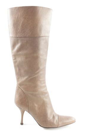 Zara High Heel Stiefel creme Casual-Look
