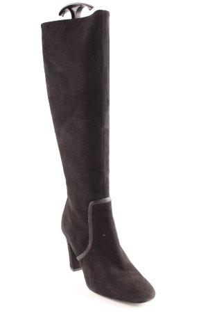 Zara Botas de tacón alto negro look casual