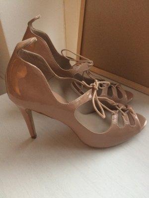 Zara High Heels 41 neu beige nude Pumps Sandaletten Neujahr Party Weihnachten Silvester